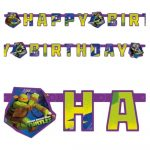 Ninja turtles banner z napisom happy birthday